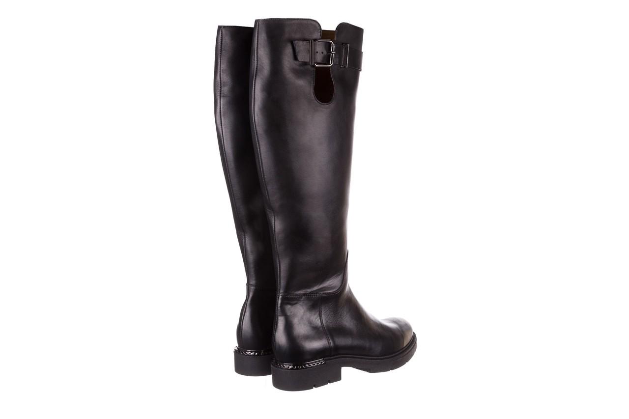 Kozaki bayla-188 020 czarny, skóra naturalna - płaskie - kozaki - buty damskie - kobieta 15