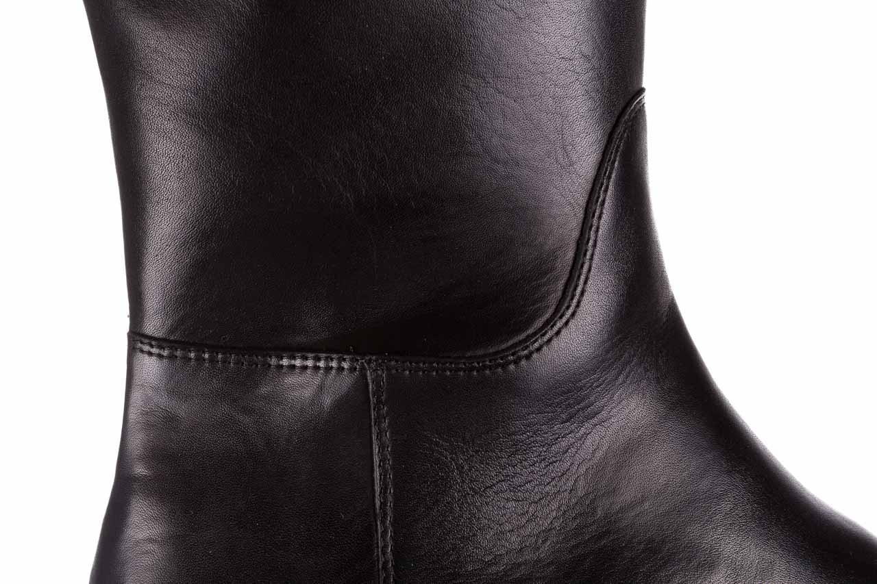 Kozaki bayla-188 020 czarny, skóra naturalna - płaskie - kozaki - buty damskie - kobieta 16