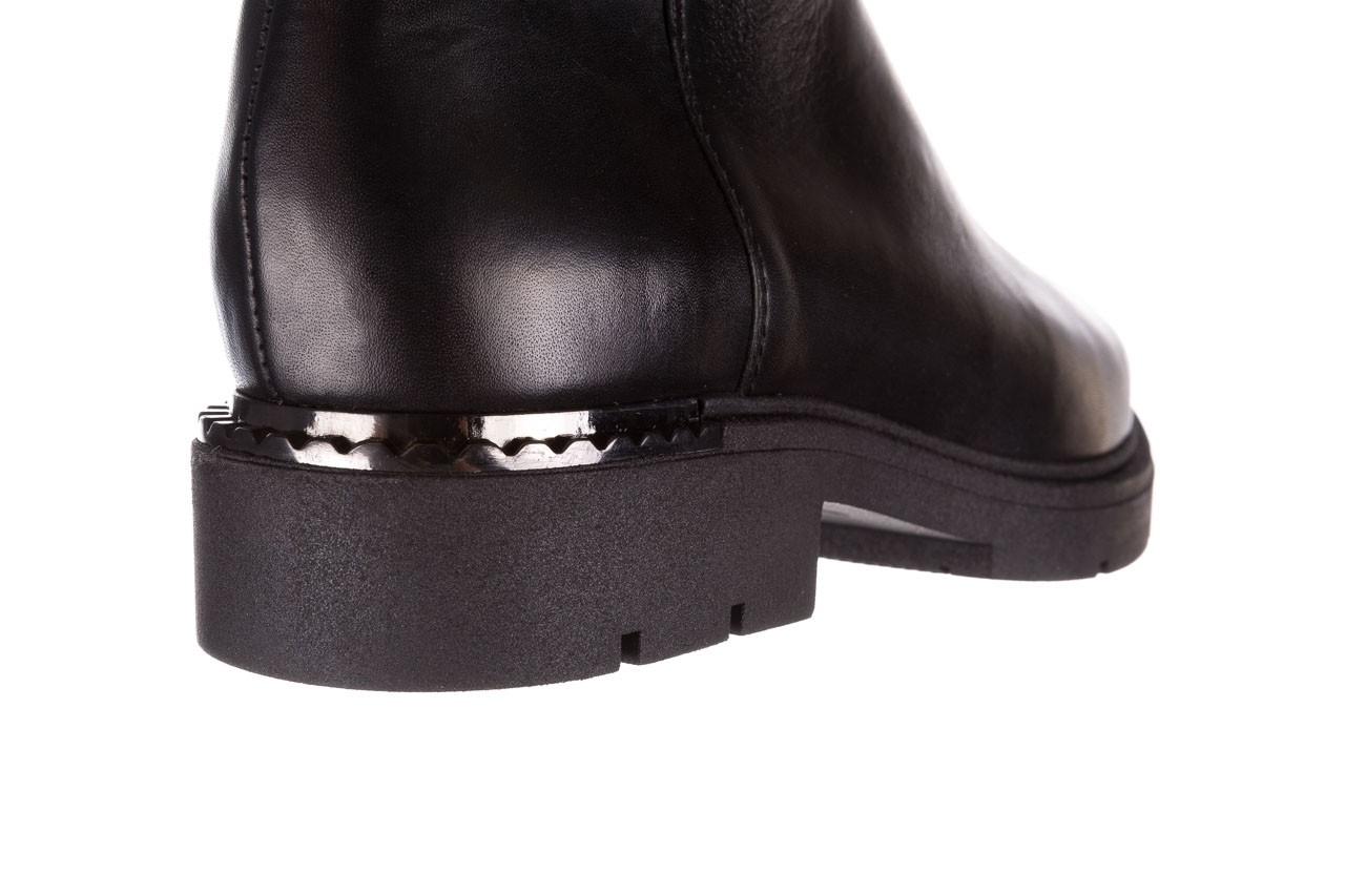 Kozaki bayla-188 020 czarny, skóra naturalna - płaskie - kozaki - buty damskie - kobieta 21