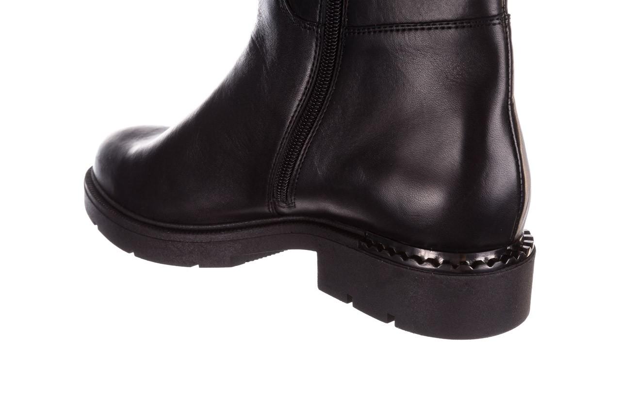 Kozaki bayla-188 020 czarny, skóra naturalna - płaskie - kozaki - buty damskie - kobieta 20