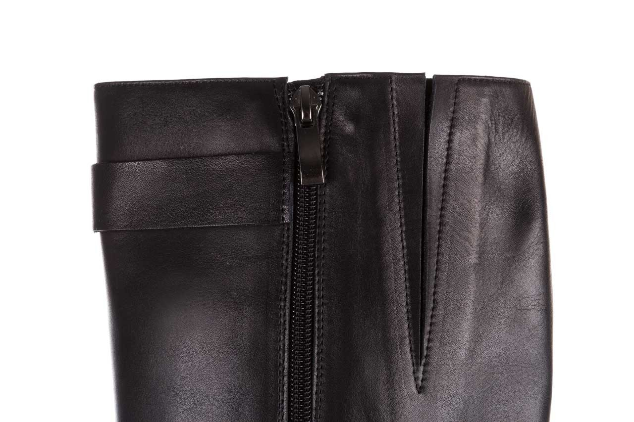 Kozaki bayla-188 020 czarny, skóra naturalna - płaskie - kozaki - buty damskie - kobieta 18