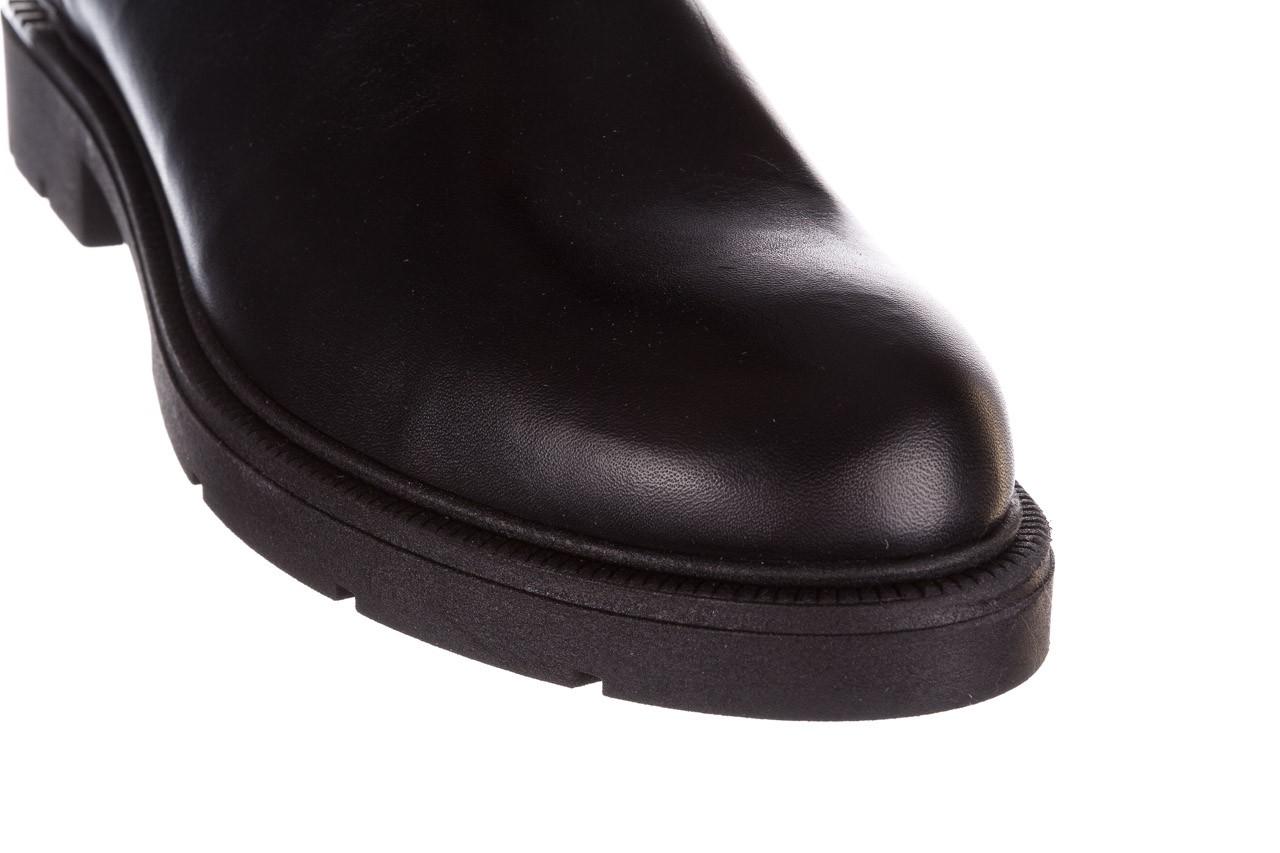 Kozaki bayla-188 020 czarny, skóra naturalna - płaskie - kozaki - buty damskie - kobieta 19