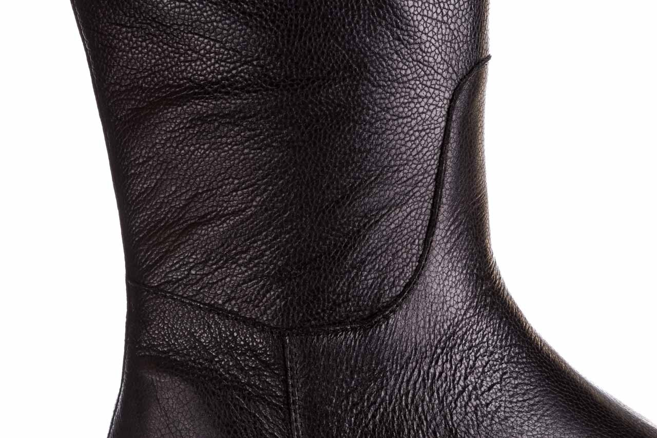 Kozaki bayla-188 027 czarny, skóra naturalna - kozaki - dla niej  - sale 18