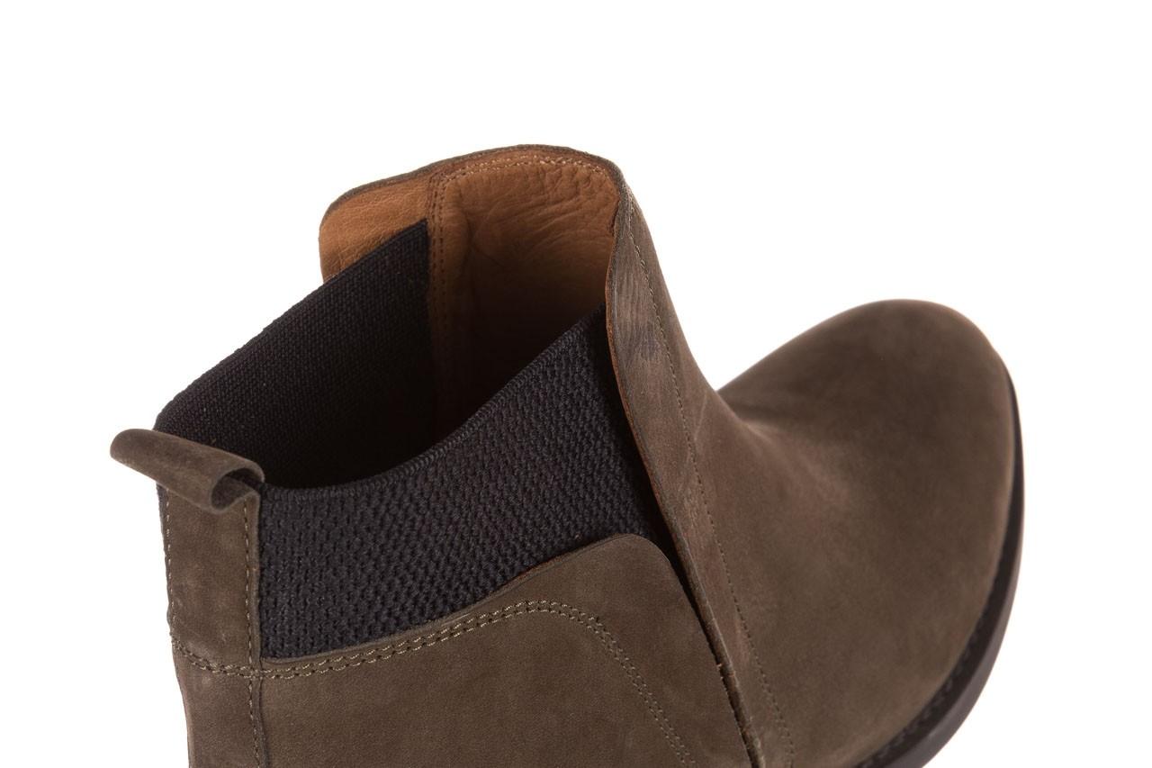 Botki bayla-161 061-2004 khaki, zielony, skóra naturalna  - skórzane - botki - buty damskie - kobieta 16