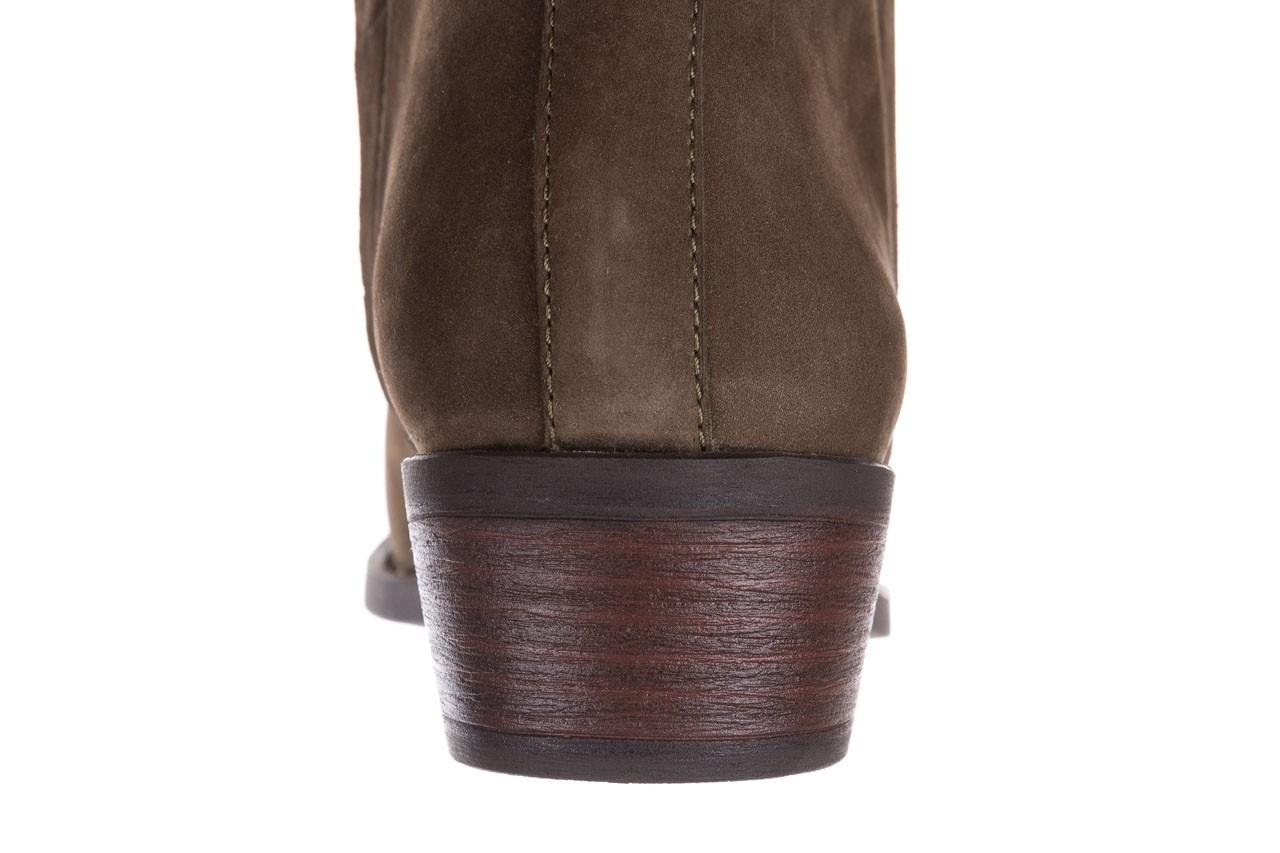 Botki bayla-161 061-2004 khaki, zielony, skóra naturalna  - skórzane - botki - buty damskie - kobieta 18