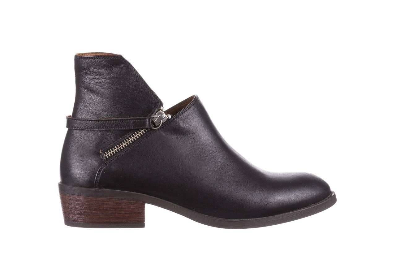 Botki bayla-161 061-2005 black, czarny, skóra naturalna  - skórzane - botki - buty damskie - kobieta 9