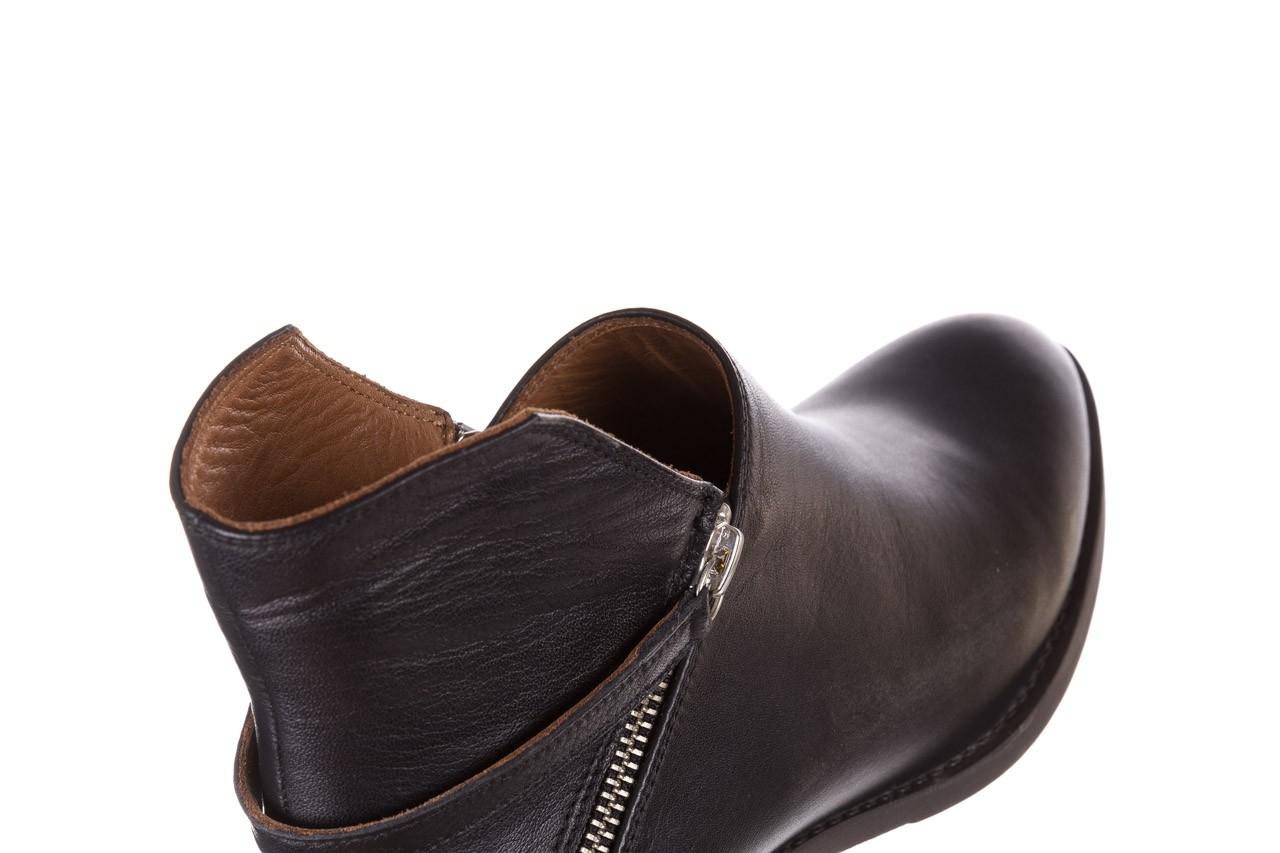 Botki bayla-161 061-2005 black, czarny, skóra naturalna  - skórzane - botki - buty damskie - kobieta 15