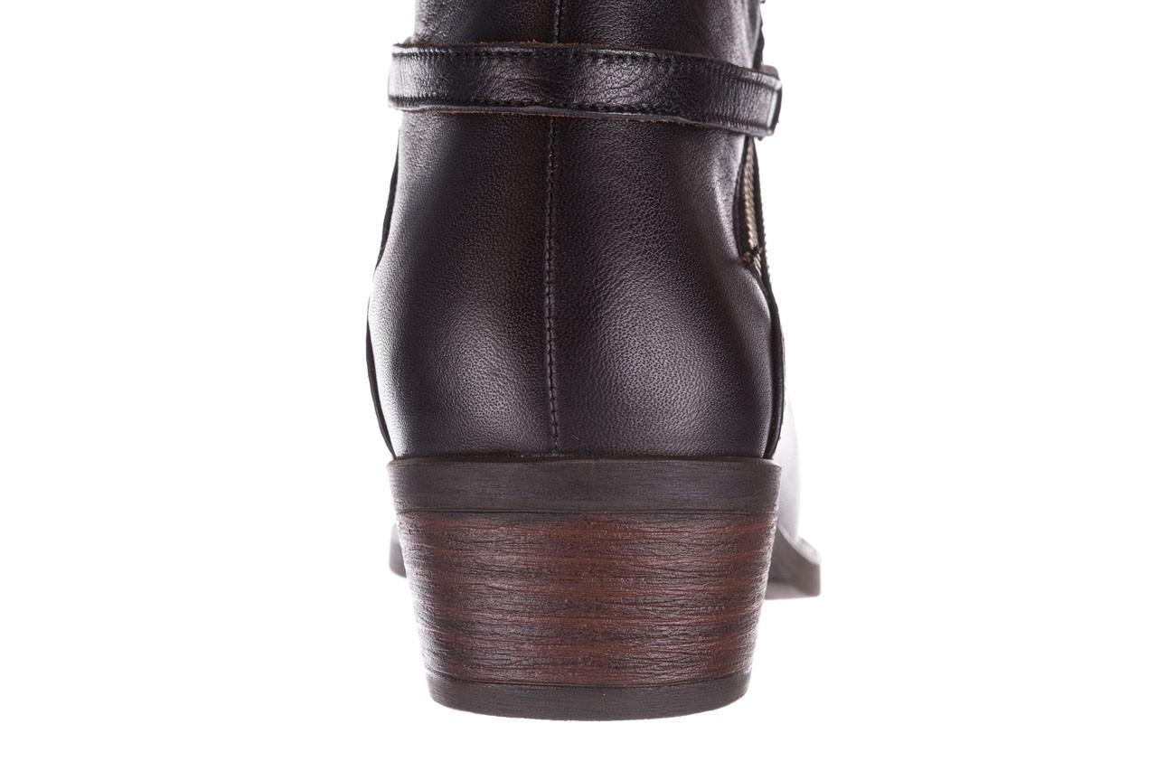 Botki bayla-161 061-2005 black, czarny, skóra naturalna  - skórzane - botki - buty damskie - kobieta 17