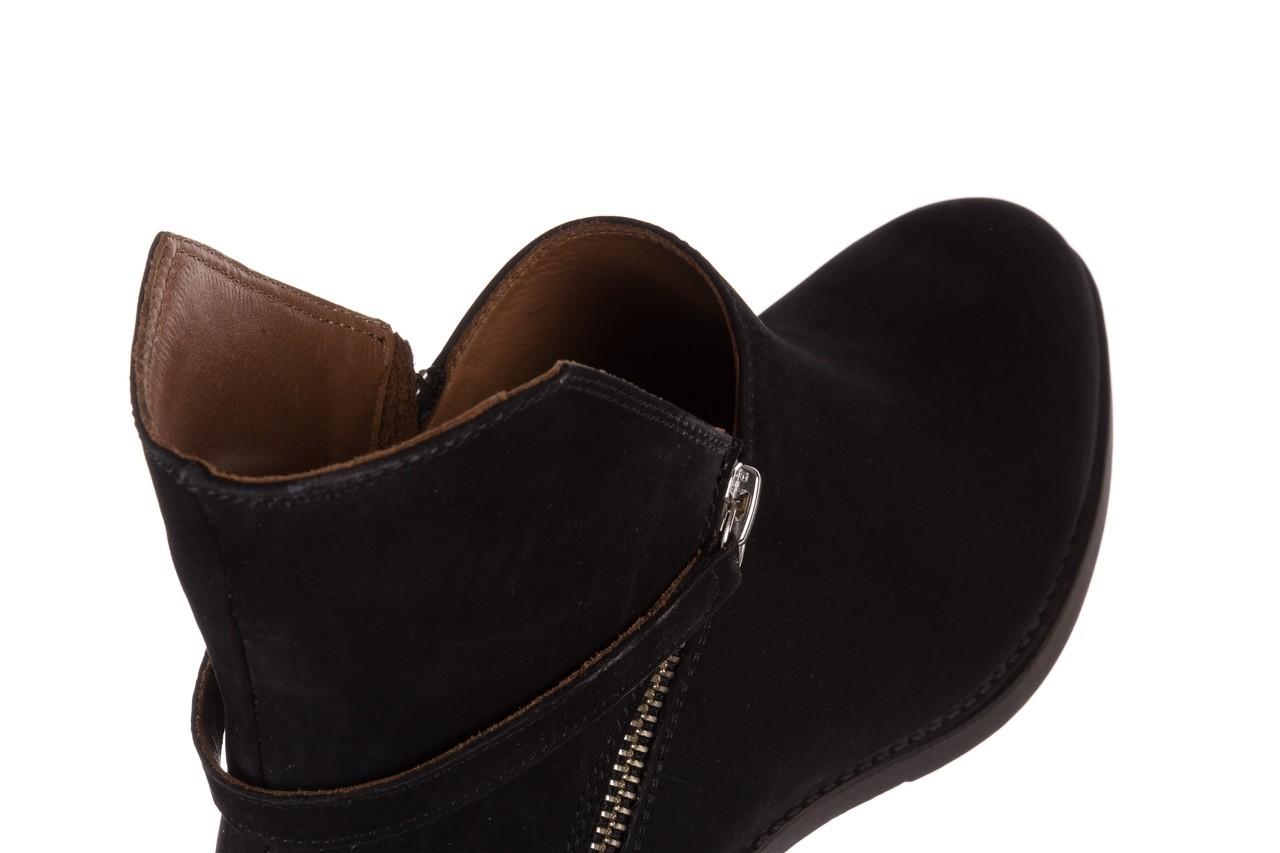 Botki bayla-161 061-2005 black nubuck, czarny, skóra naturalna  - skórzane - botki - buty damskie - kobieta 15