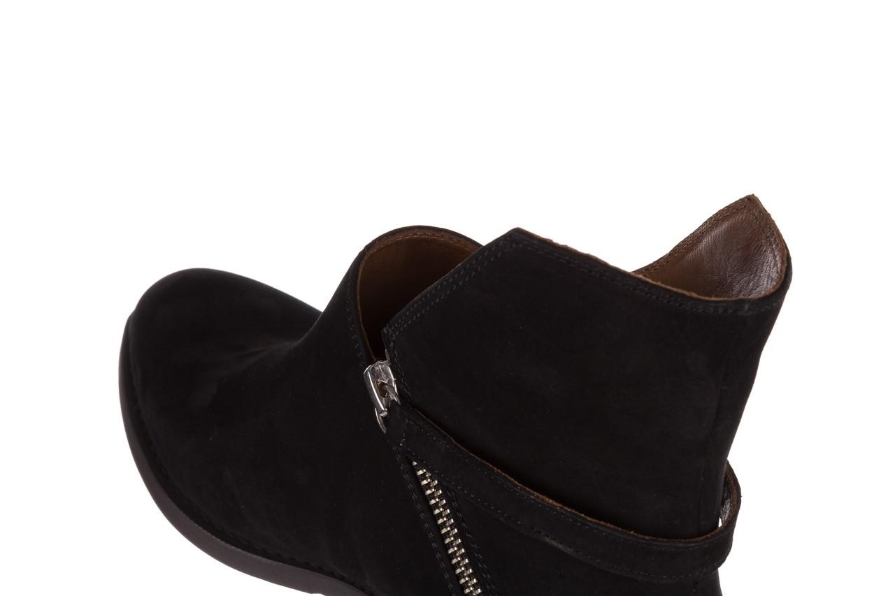 Botki bayla-161 061-2005 black nubuck, czarny, skóra naturalna  - skórzane - botki - buty damskie - kobieta 16
