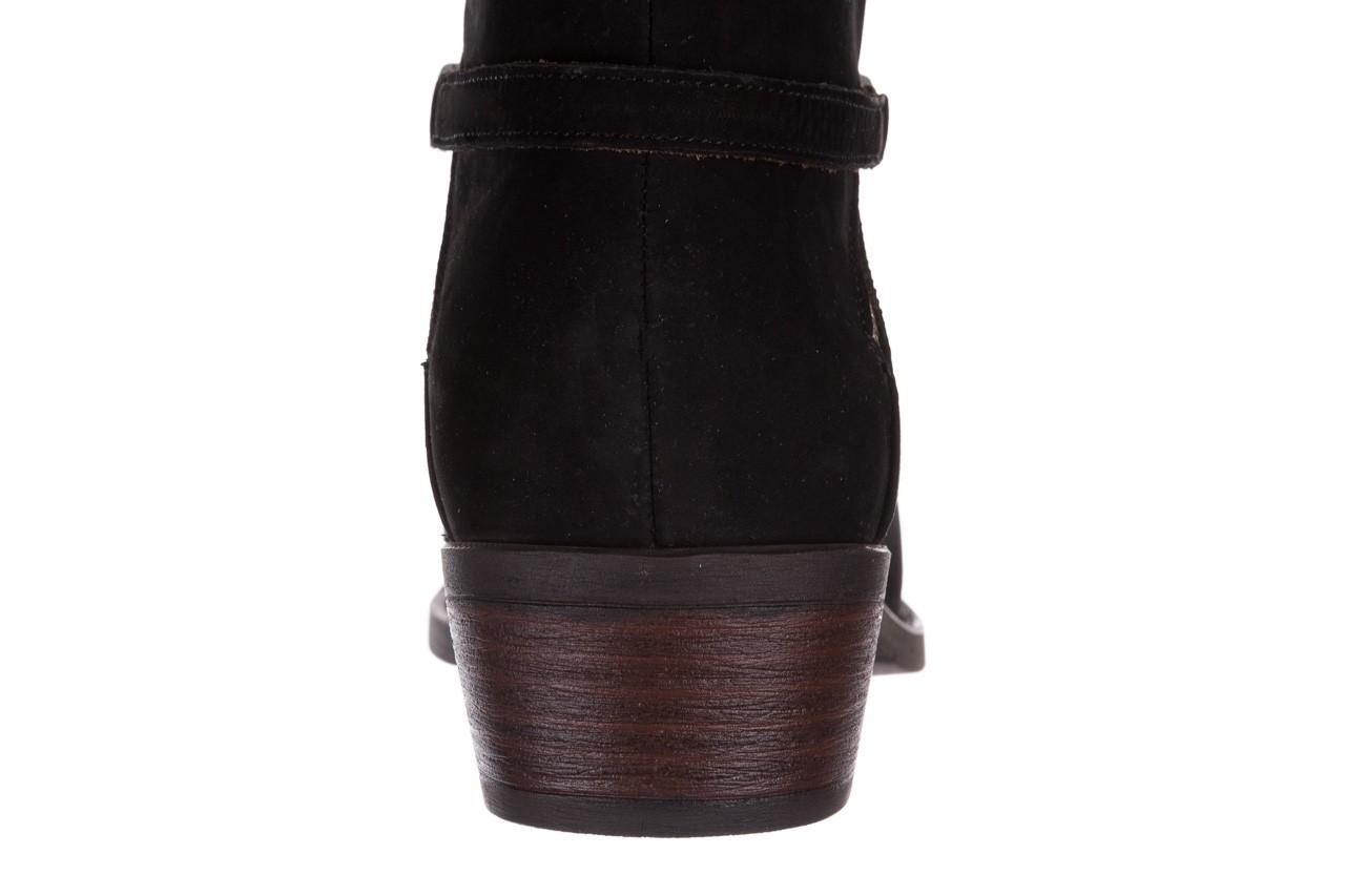 Botki bayla-161 061-2005 black nubuck, czarny, skóra naturalna  - skórzane - botki - buty damskie - kobieta 17