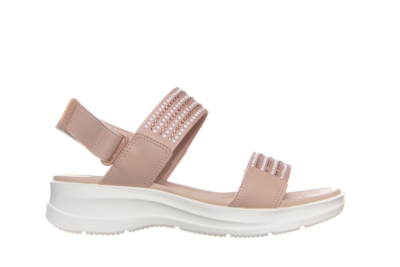 Sandały azaleia 330 561 tan, beż, skóra ekologiczna  - płaskie - sandały - buty damskie - kobieta 7
