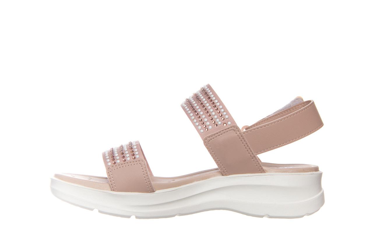 Sandały azaleia 330 561 tan, beż, skóra ekologiczna  - płaskie - sandały - buty damskie - kobieta 8