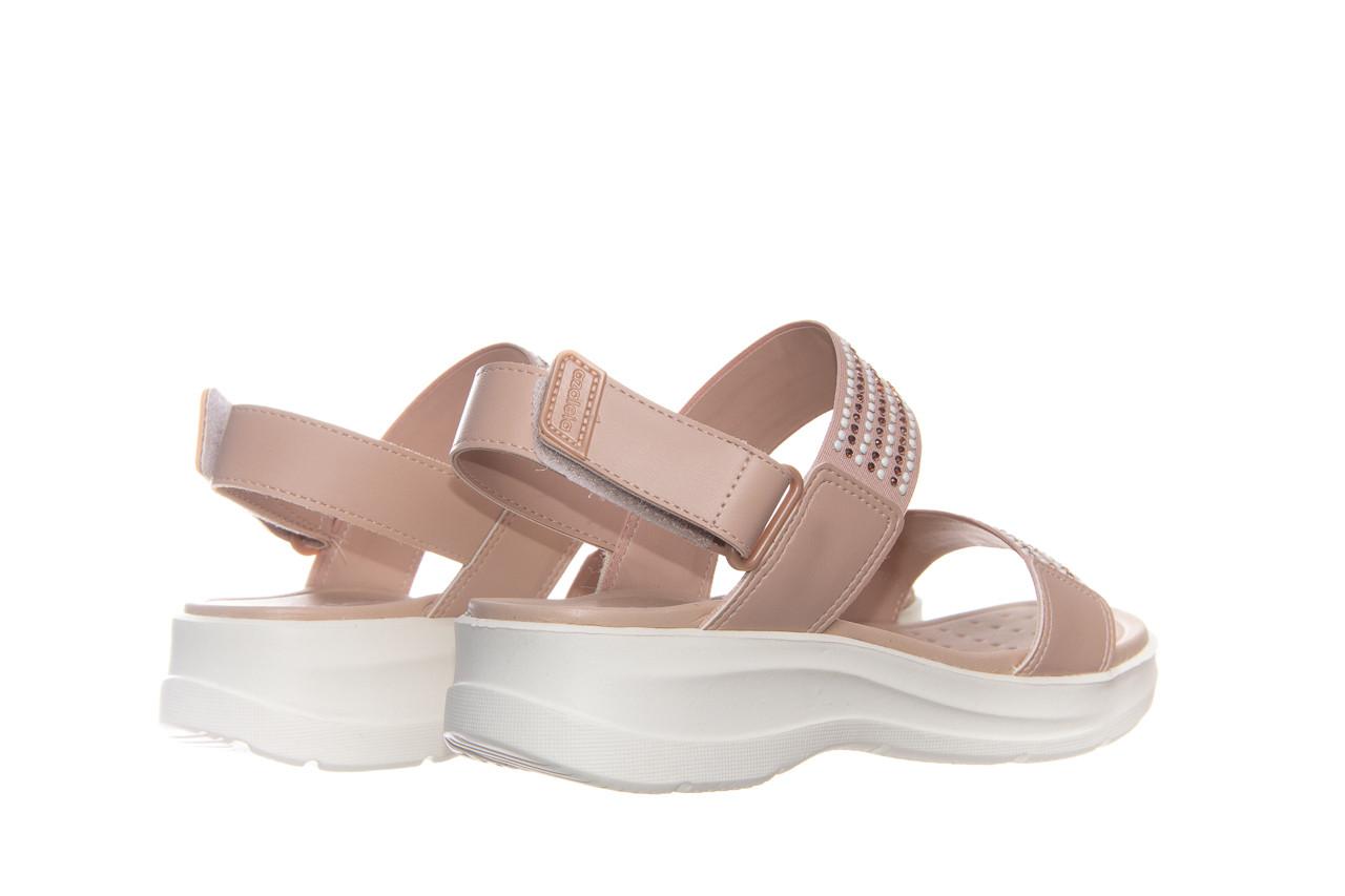 Sandały azaleia 330 561 tan, beż, skóra ekologiczna  - płaskie - sandały - buty damskie - kobieta 9