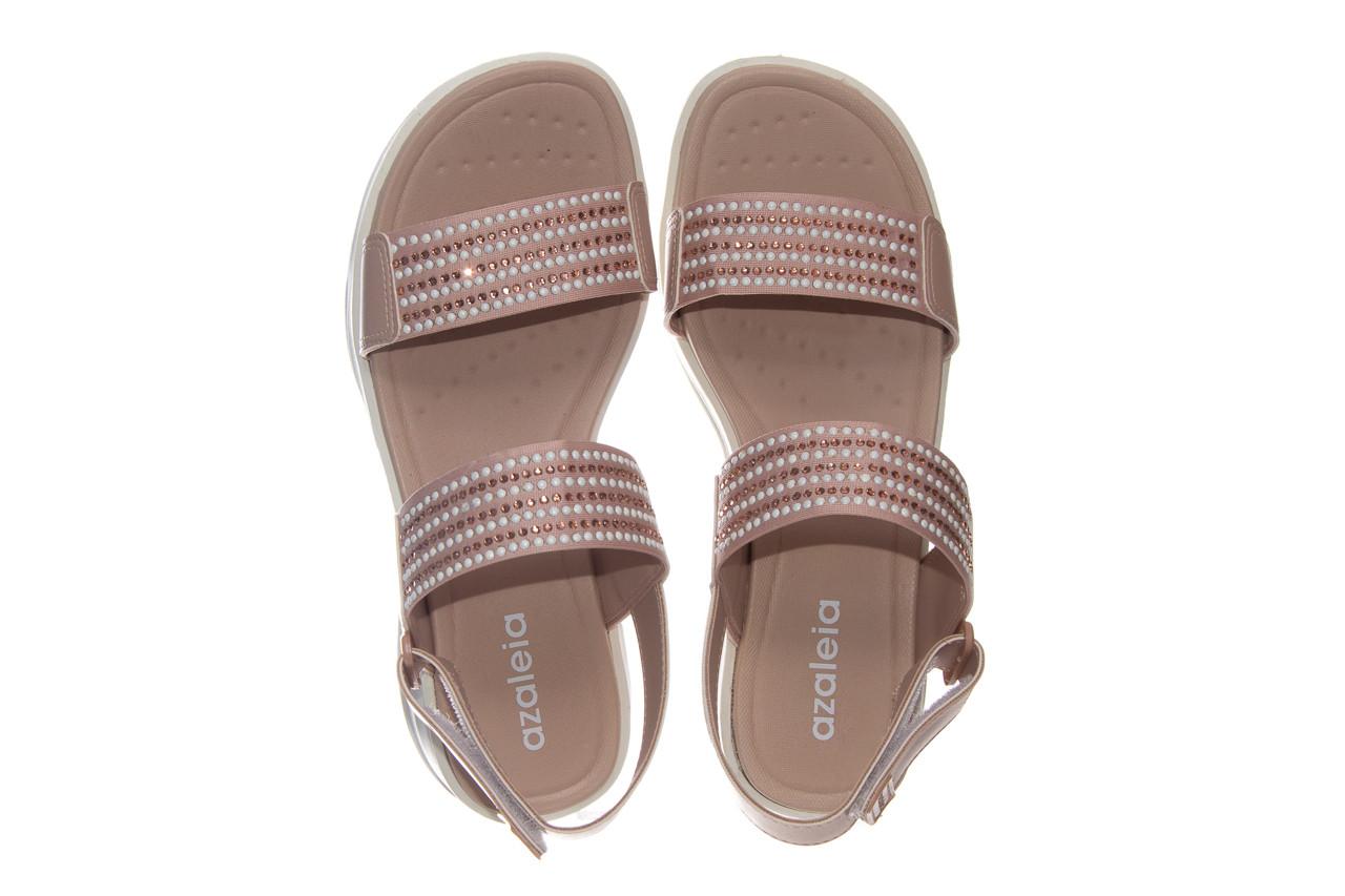 Sandały azaleia 330 561 tan, beż, skóra ekologiczna  - płaskie - sandały - buty damskie - kobieta 10