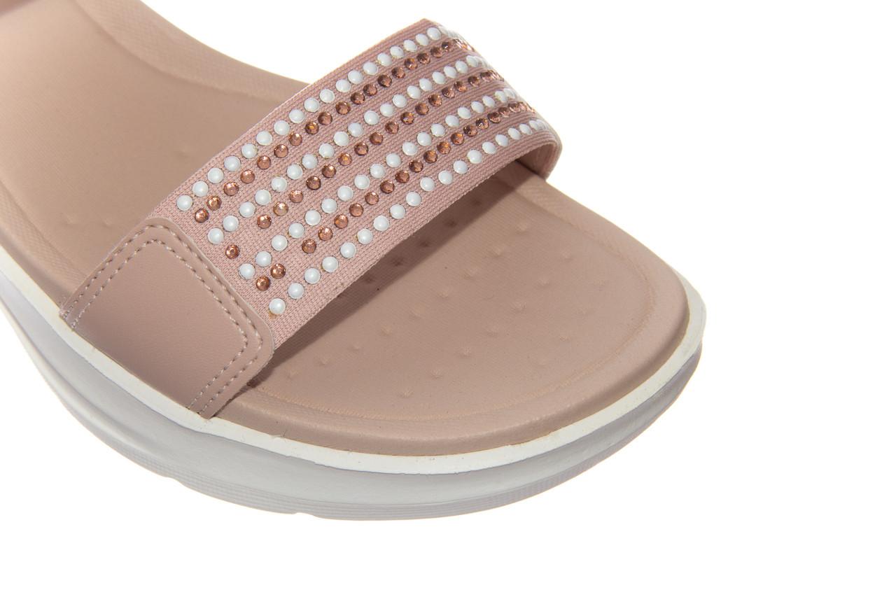 Sandały azaleia 330 561 tan, beż, skóra ekologiczna  - płaskie - sandały - buty damskie - kobieta 12