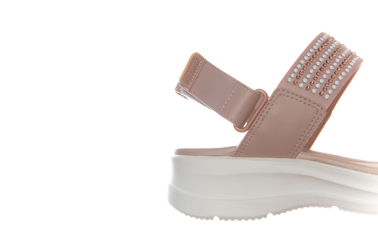 Sandały azaleia 330 561 tan, beż, skóra ekologiczna  - płaskie - sandały - buty damskie - kobieta 11