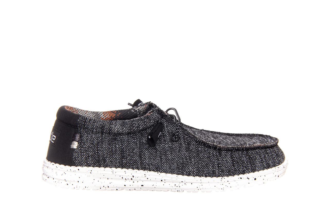 Półbuty heydude wally sox black white 003183, czarny/ biały, materiał  - trendy - mężczyzna 5