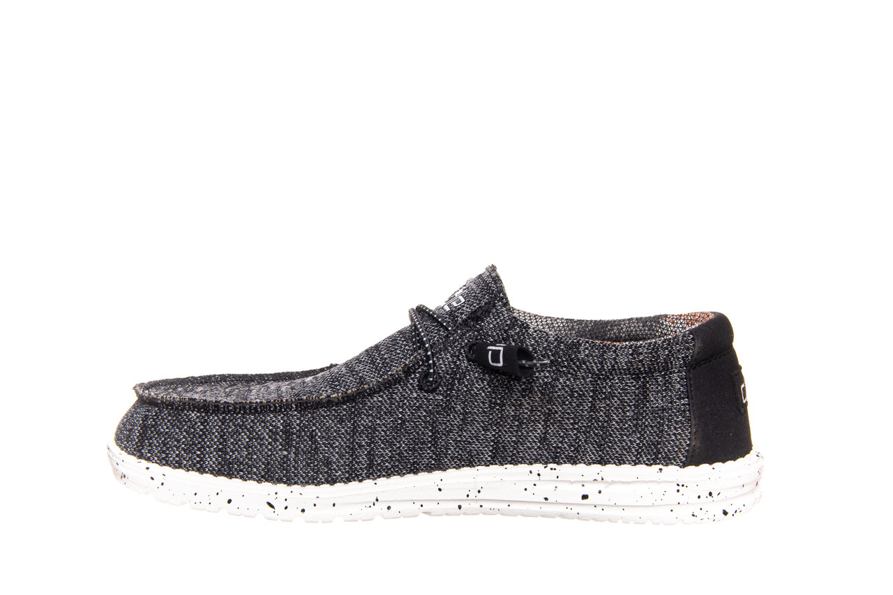 Półbuty heydude wally sox black white 003183, czarny/ biały, materiał  - trendy - mężczyzna 7