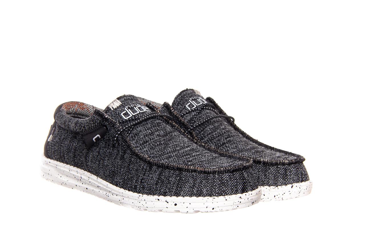 Półbuty heydude wally sox black white 003183, czarny/ biały, materiał  - trendy - mężczyzna 6