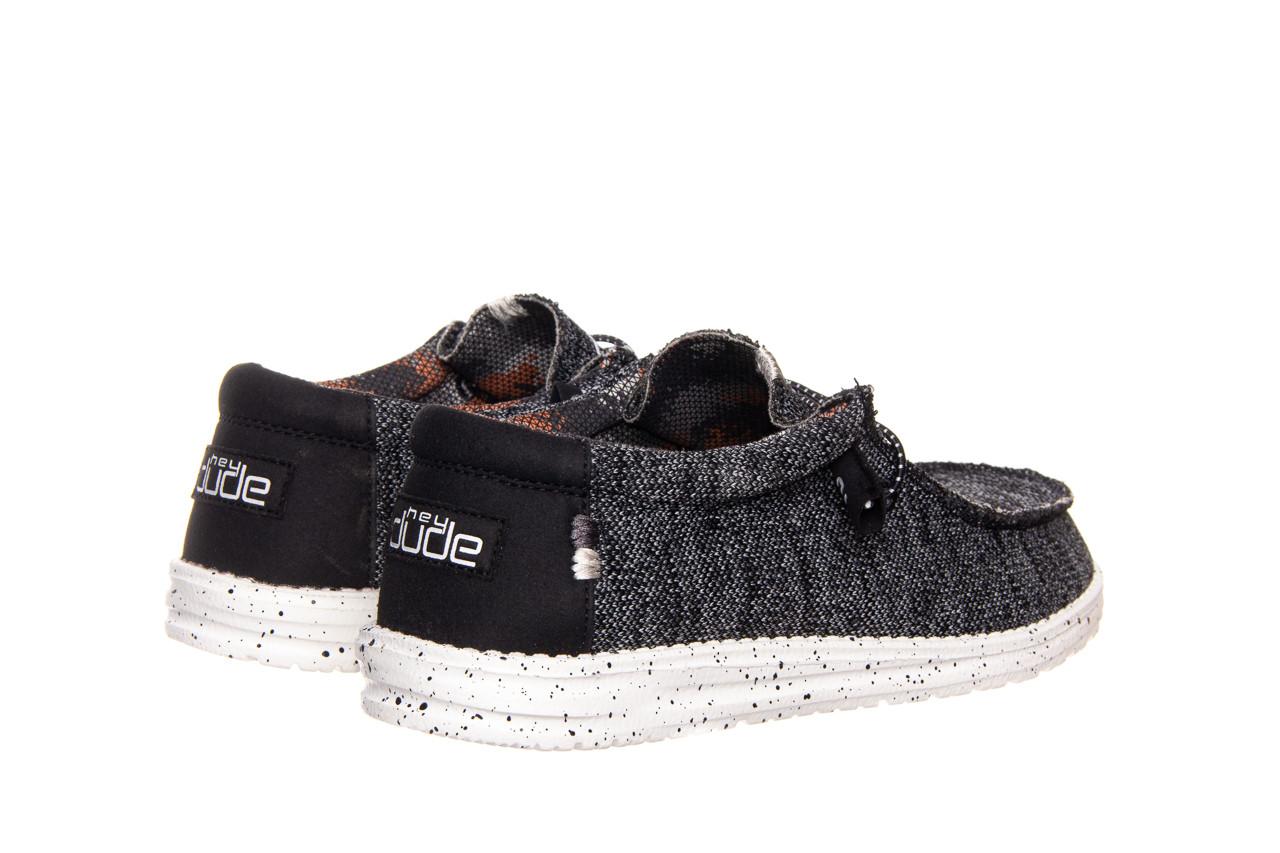 Półbuty heydude wally sox black white 003183, czarny/ biały, materiał  - trendy - mężczyzna 8