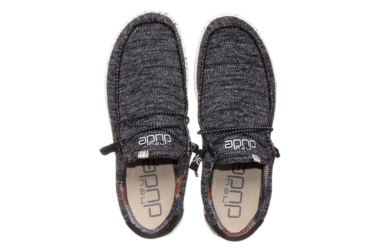 Półbuty heydude wally sox black white 003183, czarny/ biały, materiał  - trendy - mężczyzna 9