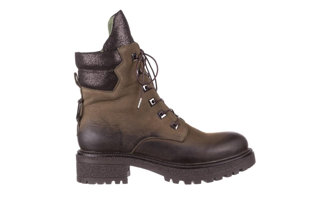 Trzewiki bayla-161 050-0507 khaki, zielony, skóra naturalna  - trzewiki - buty damskie - kobieta 11
