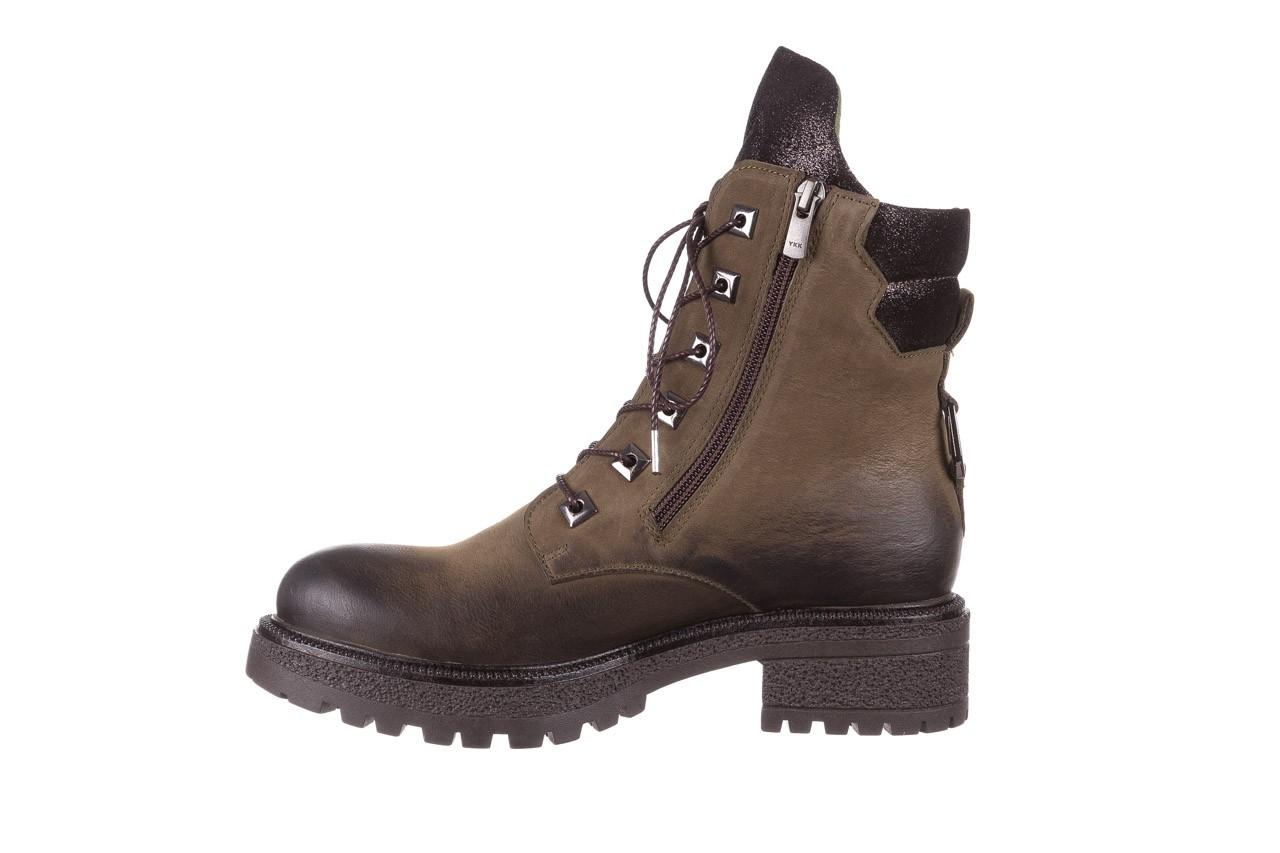 Trzewiki bayla-161 050-0507 khaki, zielony, skóra naturalna  - trzewiki - buty damskie - kobieta 13