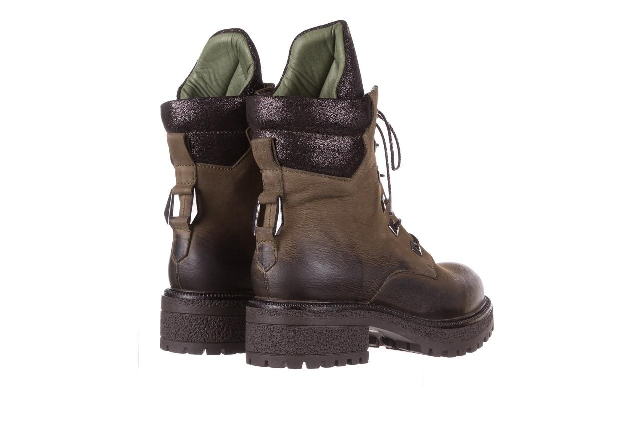 Trzewiki bayla-161 050-0507 khaki, zielony, skóra naturalna  - trzewiki - buty damskie - kobieta 14