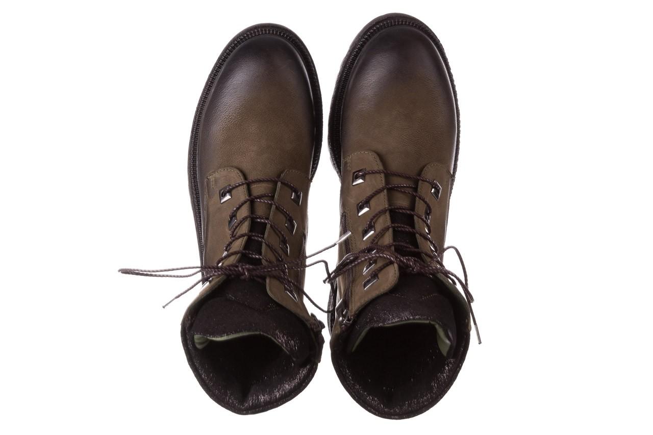 Trzewiki bayla-161 050-0507 khaki, zielony, skóra naturalna  - trzewiki - buty damskie - kobieta 15