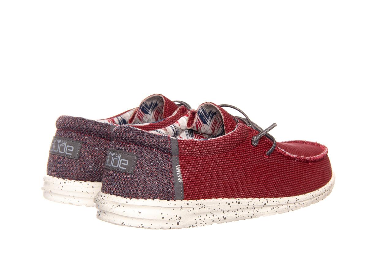Półbuty heydude wally kite red 003185, czerwony, materiał - heydude - nasze marki 9