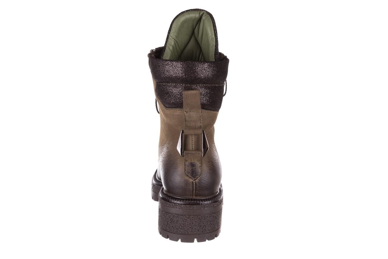 Trzewiki bayla-161 050-0507 khaki, zielony, skóra naturalna  - trzewiki - buty damskie - kobieta 20