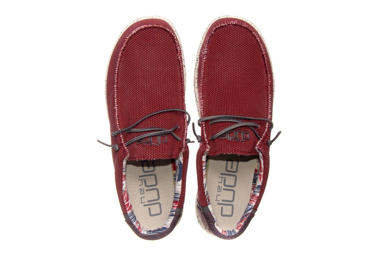 Półbuty heydude wally kite red 003185, czerwony, materiał - heydude - nasze marki 10