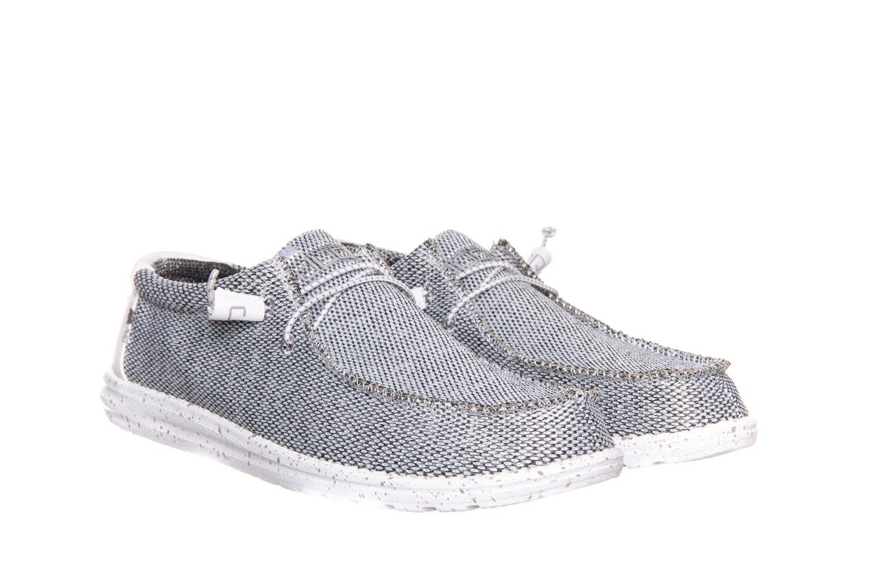 Półbuty heydude wally sox bright white 003184, biały/ czarny, materiał  - nowości 7