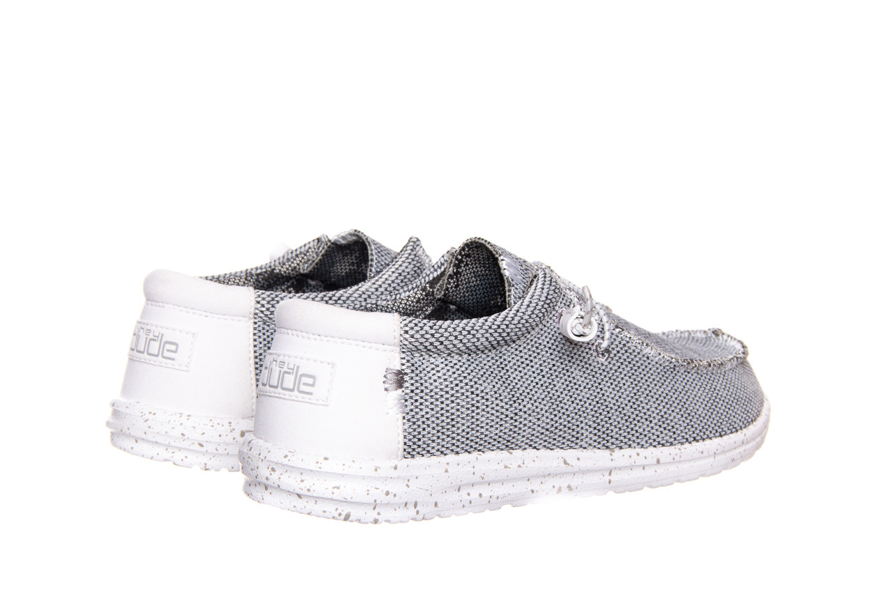 Półbuty heydude wally sox bright white 003184, biały/ czarny, materiał  - nowości 9