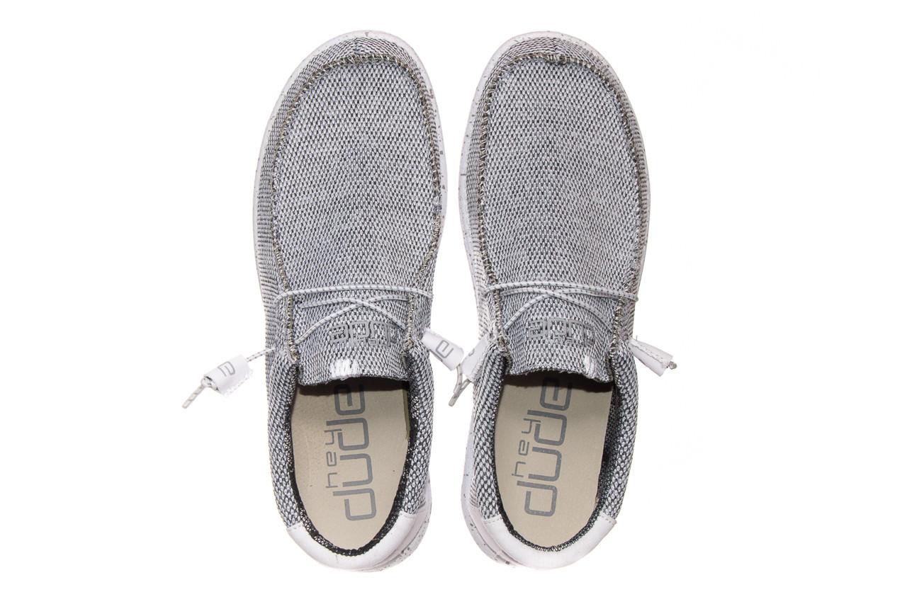Półbuty heydude wally sox bright white 003184, biały/ czarny, materiał  - nowości 10