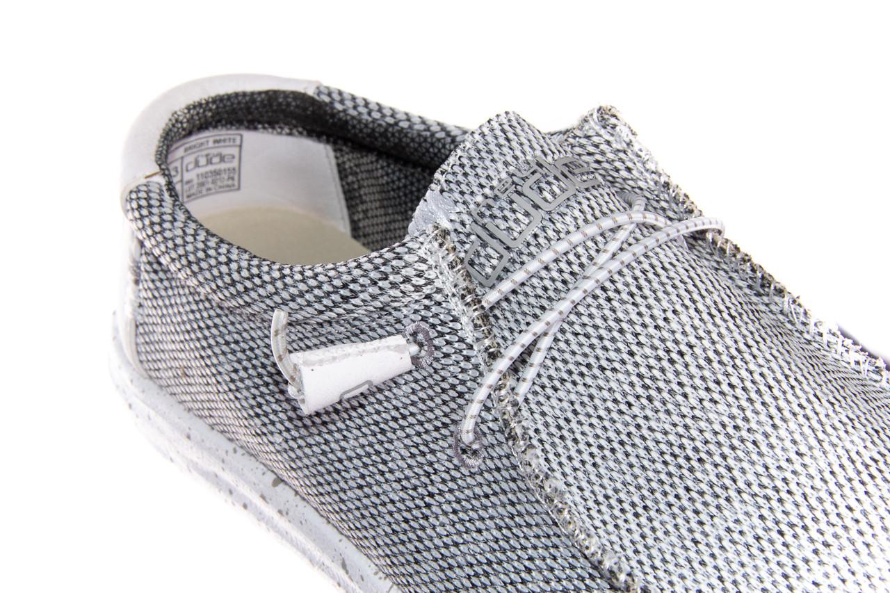 Półbuty heydude wally sox bright white 003184, biały/ czarny, materiał  - nowości 11