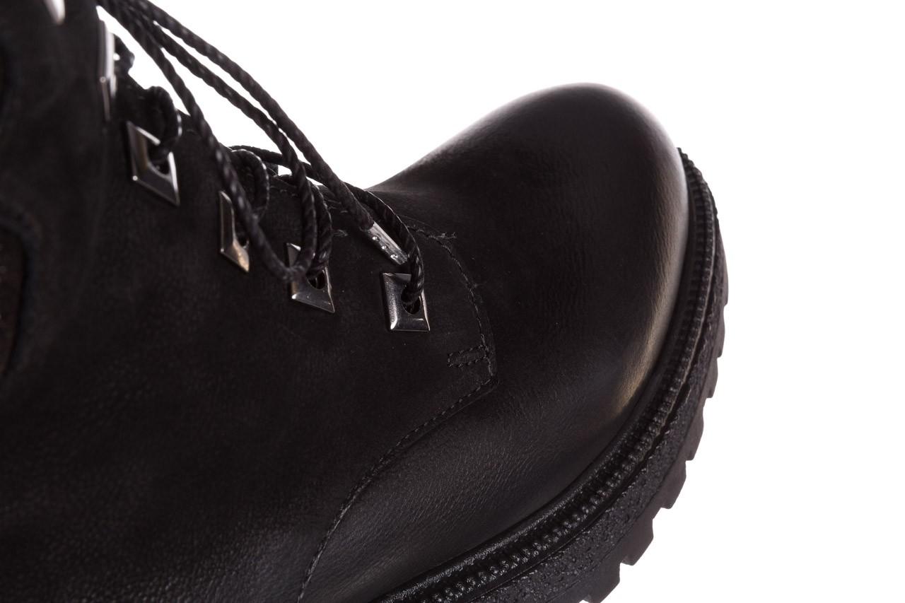 Trzewiki bayla-161 050-0507 black, czarny, skóra naturalna 18