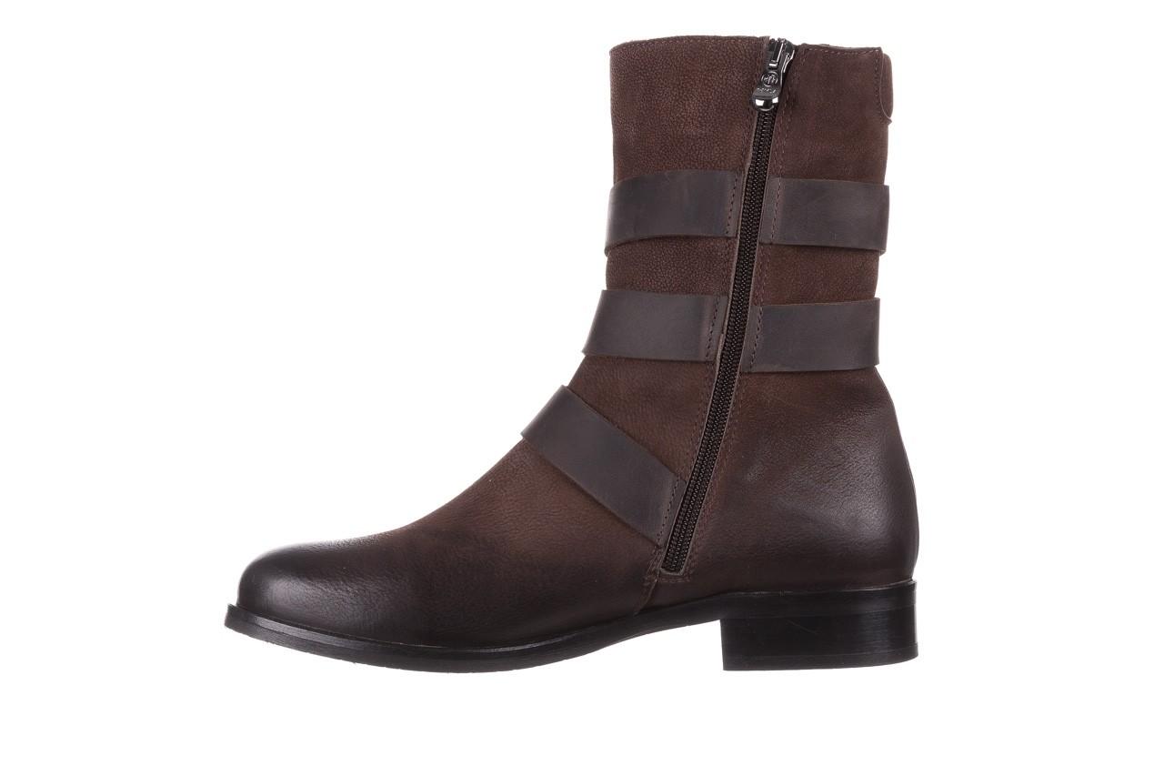 Botki bayla-161 050-09435 brown, brąz, skóra naturalna  - skórzane - botki - buty damskie - kobieta 14