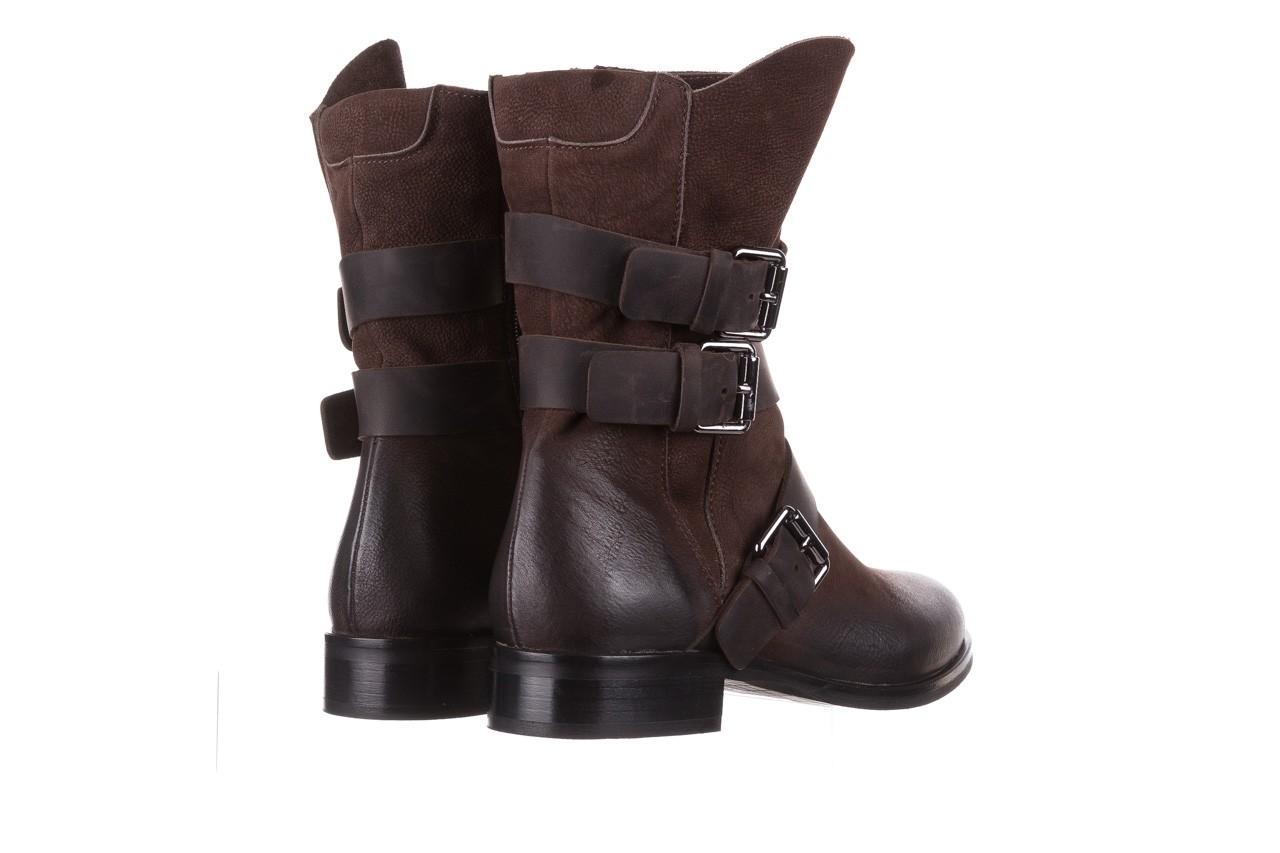 Botki bayla-161 050-09435 brown, brąz, skóra naturalna  - skórzane - botki - buty damskie - kobieta 15