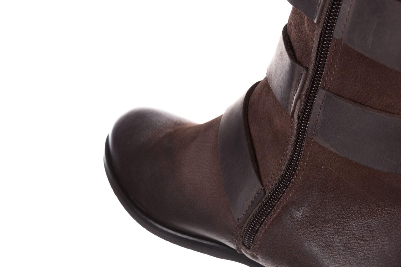 Botki bayla-161 050-09435 brown, brąz, skóra naturalna  - skórzane - botki - buty damskie - kobieta 20