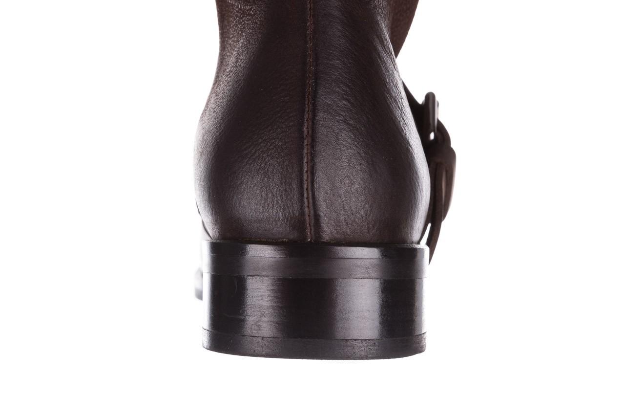 Botki bayla-161 050-09435 brown, brąz, skóra naturalna  - skórzane - botki - buty damskie - kobieta 21