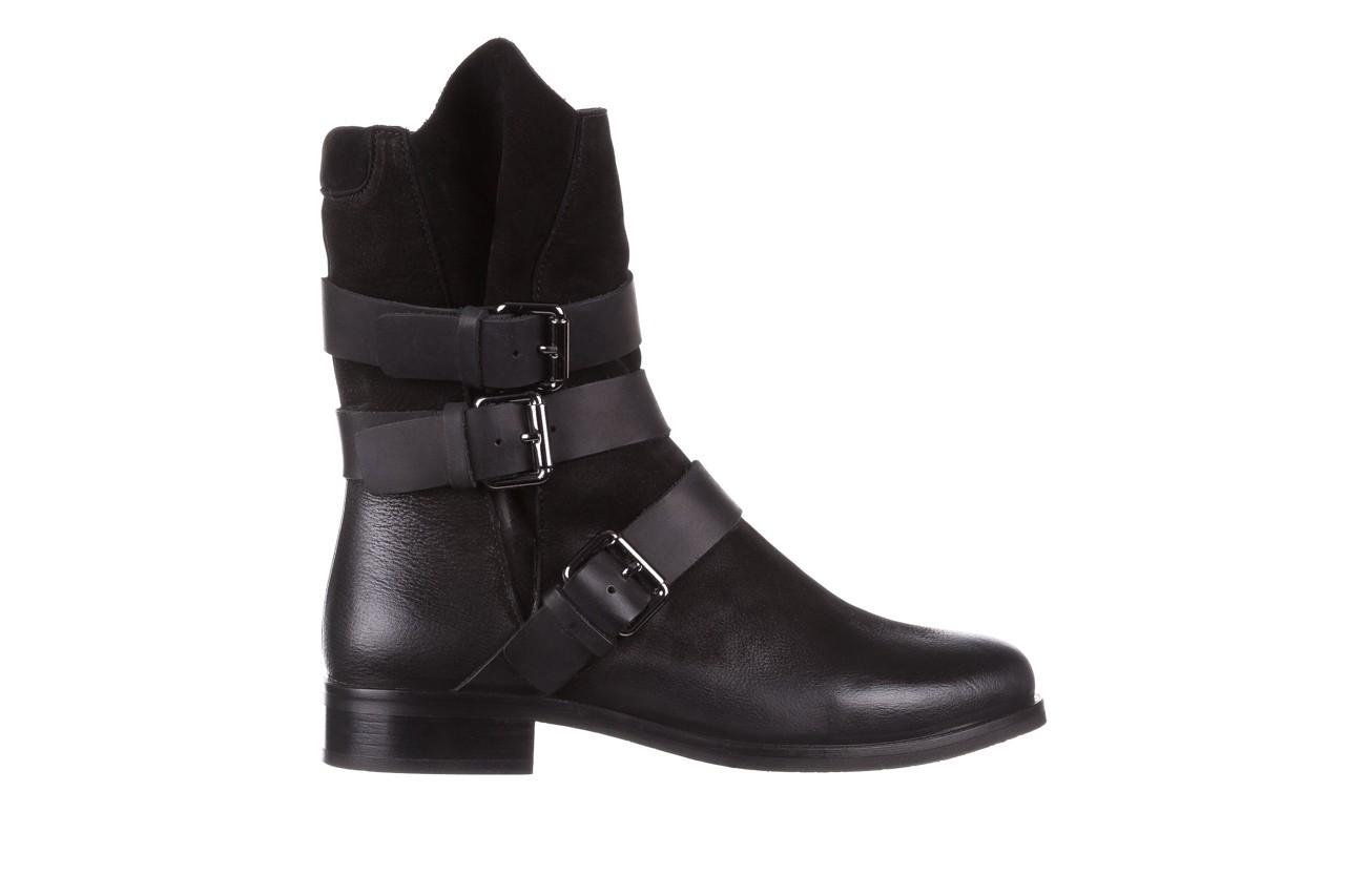 Botki bayla-161 050-09435 black, czarny, skóra naturalna  - skórzane - botki - buty damskie - kobieta 11
