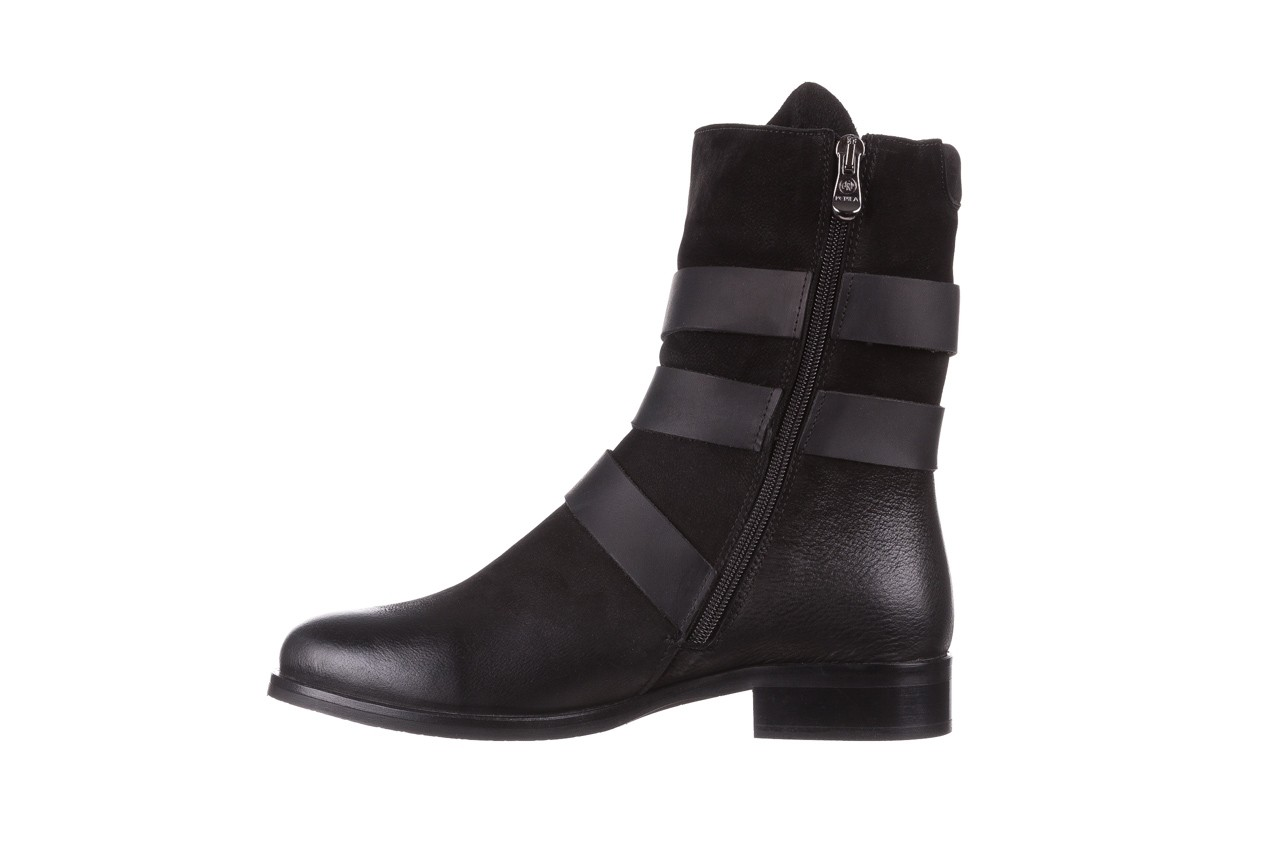 Botki bayla-161 050-09435 black, czarny, skóra naturalna  - skórzane - botki - buty damskie - kobieta 14