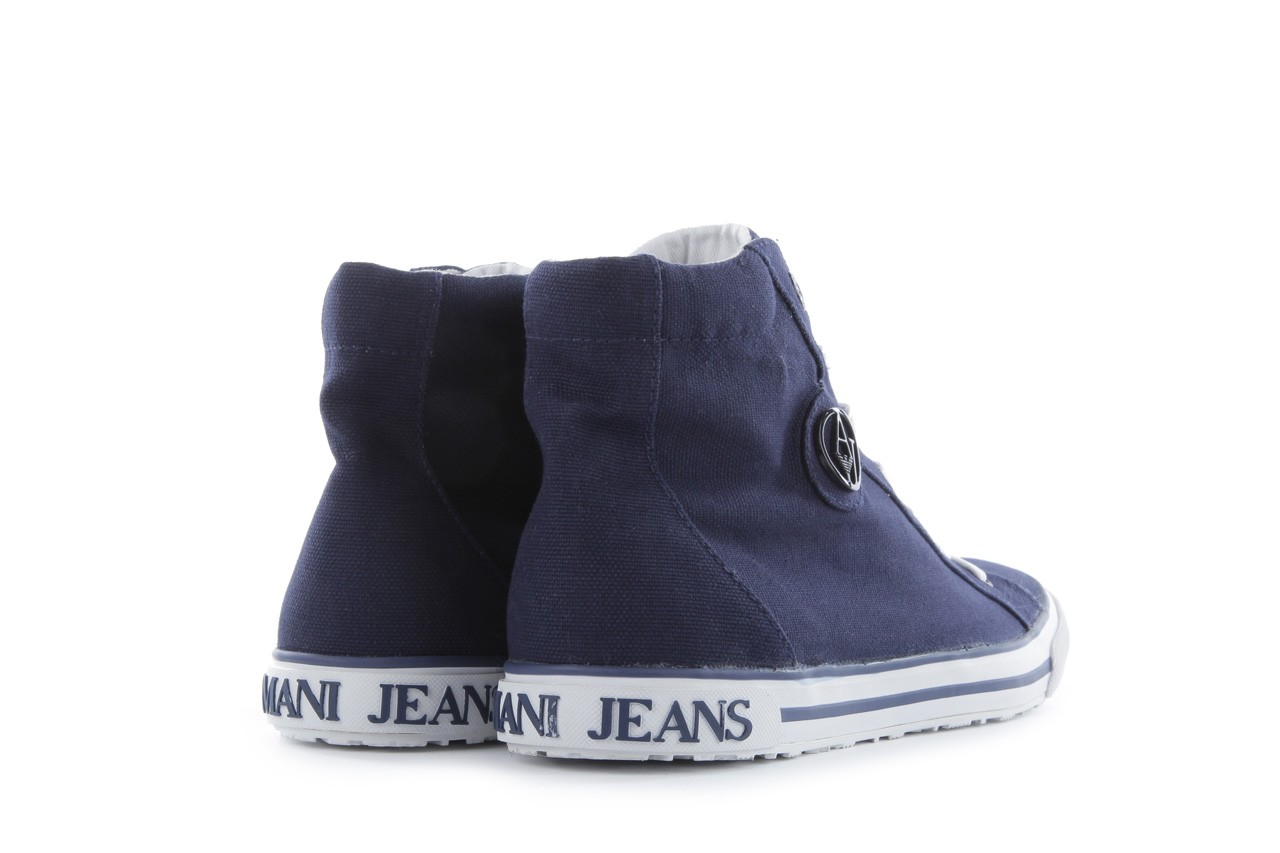 Trampki armani jeans 055a4 64 indigo, granat, materiał 11
