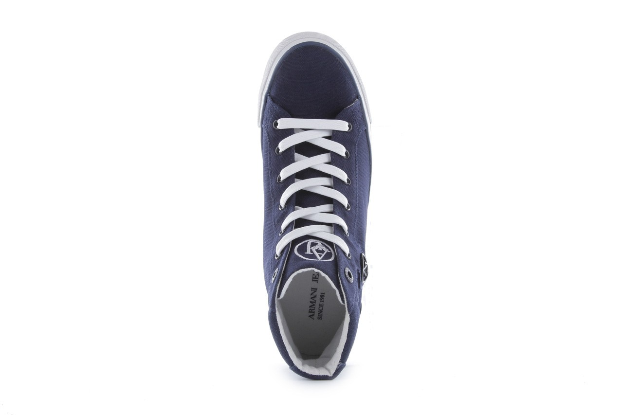 Trampki armani jeans 055a4 64 indigo, granat, materiał 12
