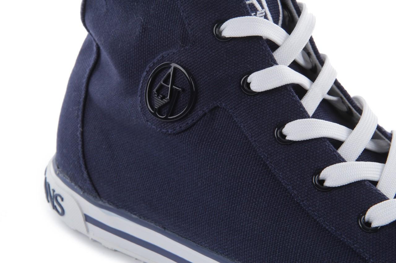 Trampki armani jeans 055a4 64 indigo, granat, materiał 13
