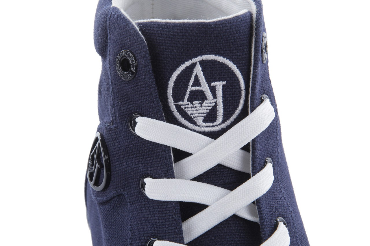 Trampki armani jeans 055a4 64 indigo, granat, materiał 14