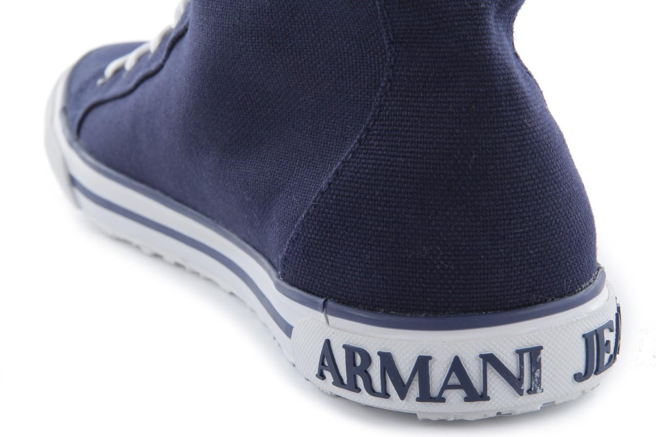 Trampki armani jeans 055a4 64 indigo, granat, materiał 15