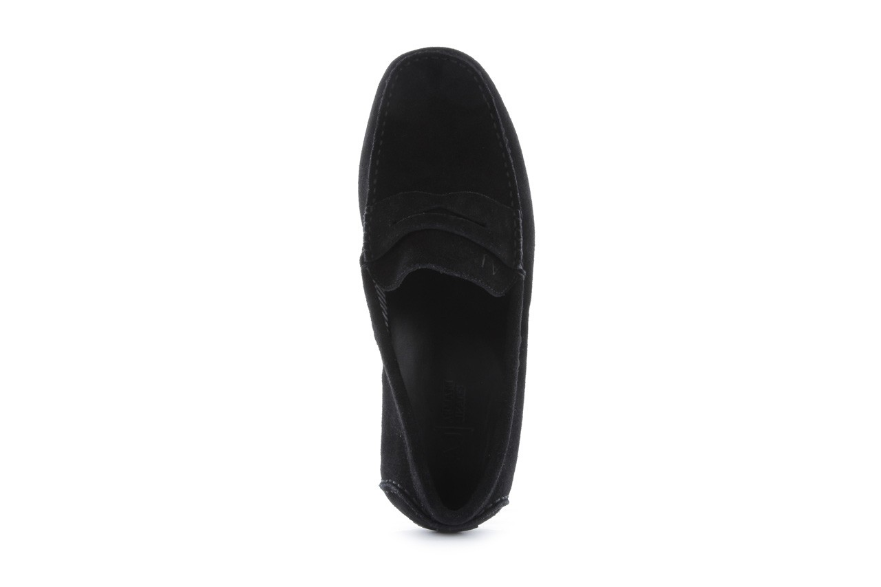 Mokasyny armani jeans 06588 55 black, czarny, skóra naturalna - armani jeans - nasze marki 11